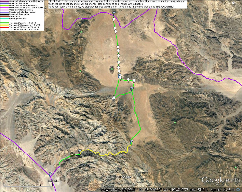 California Popular Trails Dirt Devils Trail Tracks
